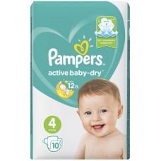 Подгузники Pampers (Памперс) Active Baby Maxi 4 (9-14 кг), 10 шт