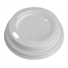 Крышка для холодных и горячих напитков, 80 мм, 100 шт, (белая)