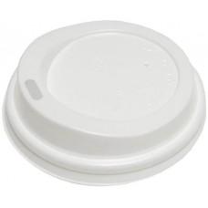 Крышка для горячих напитков с питейником, цвет белый, 90 мм, 100 шт