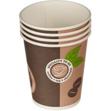 Стакан одноразовый бумажный для горячих напитков Coffee To Go, 250 мл, 50 шт