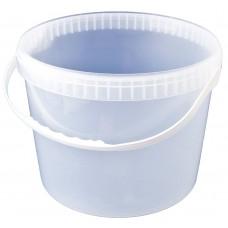 Ведро пластмассовое прозрачное с ручкой h120, d130, БП, 11 л
