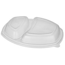 Крышка пластиковая одноразовая СпК-257-2 к ланч-боксу, 70 шт