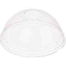 Крышка для стакана Пэт купольная с отверстием, d=95 мм, 50 шт