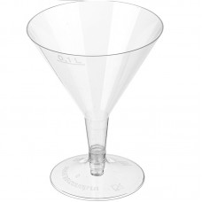 Бокал одноразовый для мартини прозрачный, 100 мл, 6 шт
