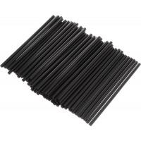 Трубочки для коктейлей мини, черные, 400 шт