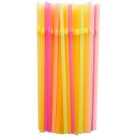 Трубочки для коктейлей с гофр. цветные, 250 шт