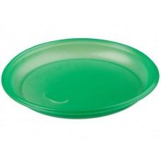 Тарелка одноразовая ПС ПолиЭР, 165 мм, 100 шт, (зеленая)