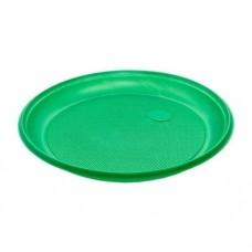 Тарелка одноразовая ПС ПолиЭР, 205 мм, 100 шт, (зеленая)