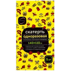 Скатерть Флис, желтая, 110х140 см