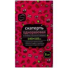 Скатерть Флис, красная, 110х140 см