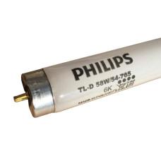 Лампа линейная люминесцентная Philips (Филипс), TL-D, 58 W/54-765 G13, (холодный дневной), 150 см
