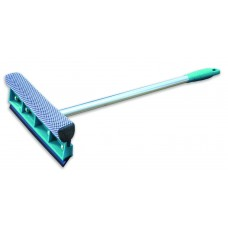 Окномойка Умничка с насадкой 20 см и телескопической ручкой 95 см, изумрудная