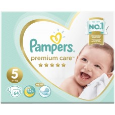 Подгузники Pampers (Памперс) Premium Care Junior 5 (11+ кг), 64 шт