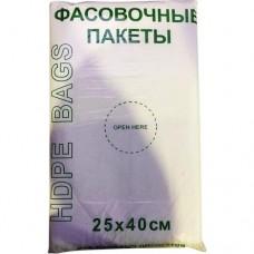 Пакет пищевой фасовочный Эконом, 25х40 см, 10 мкм, 1000 шт/рулон