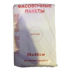 Пакет пищевой фасовочный Эконом, 30х40 см, 10 мкм, 1000 шт/рулон