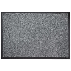 Ковер ворсовой на резиновой основе, цвет серый, ПС, 60х85 см