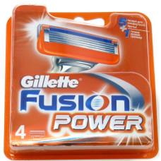 Кассеты для бритья Gillette Fusion Power (Джилет Фьюжен Пауэ), 4 шт