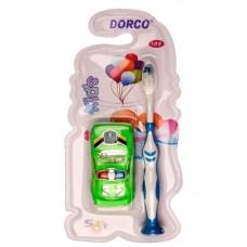 Детская зубная щетка Dorco + игрушка машина