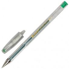 Ручка гелевая Beifa (Бэйфа), зеленая, корпус прозрачный, узел 0,7 мм, линия письма 0,5 мм