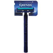 Одноразовый станок для бритья Grendy (Гренди) с двумя лезвиями, с увлажняющей полоской, 1 шт