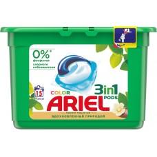 Гель для стирки в растворимых капсулах ARIEL автомат Масло Ши, 15 шт*28,8 г