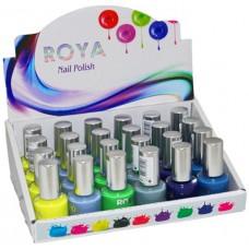 Лак для ногтей Roya (Роя), цвета (желтый,серый,синий,зеленый), R-04 MIX