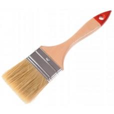 Кисть малярная 73 мм, толщина 15 мм, натуральная щетина, деревянная ручка