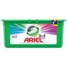 Гель для стирки в растворимых капсулах автомат Ariel (Ариэль) Color, 30 шт*28,8 г
