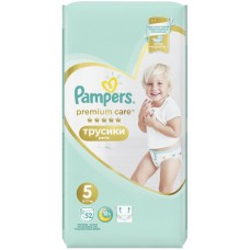 Подгузники Pampers (Памперс) Premium Care Junior 5 (12-17 кг), 52 шт