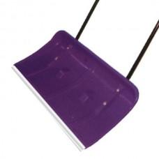 Лопата движок (скреппер) для снега пластик в сборе с металлической ручкой, 810х690 мм