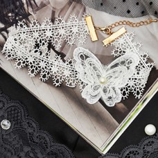 Чокер Ажур бабочка, цвет белый