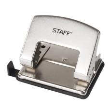 Дырокол средний STAFF Design, металлический, никель, на 20 листов