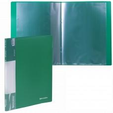 Папка BRAUBERG, стандарт, зеленая, 10 вкладышей, 0,5 мм