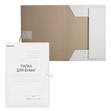 Папка для бумаг с завязками картонная BRAUBERG, плотность 280 г/м2, до 200 листов