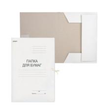 Папка для бумаг с завязками картонная STAFF, плотность 220 г/м2, до 200 листов