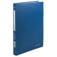 Папка с пластиковым скоросшивателем BRAUBERG Office, синяя, до 100 листов