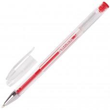 Ручка гелевая BRAUBERG Jet, корпус прозрачный, красная, узел 0,5 мм, линия 0,35 мм
