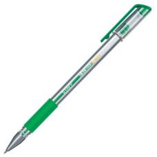 Ручка гелевая с грипом STAFF, корпус прозрачный, узел 0,5 мм, линия 0,35 мм, (зелёная)