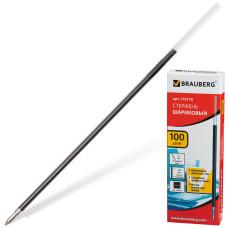 Стержень шариковый масляный BRAUBERG, черный, игольчатый узел 0,7 мм, линия 0,35 мм, 140 мм
