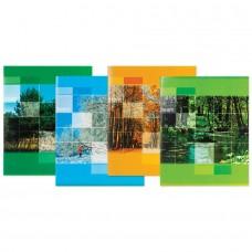 Тетрадь STAFF Времена года, офсет №2, 60 г/м2, клетка, обложка мелованный картон, 48 листов
