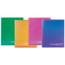 Тетрадь STAFF Однотонная, офсет №2, 60 г/м2, клетка, обложка мелованный картон, 48 листов