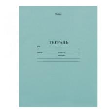 Тетрадь Зелёная обложка HATBER, офсет, линия с полями, 12 листов