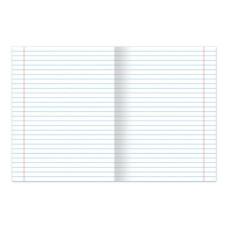 Тетрадь Зелёная обложка HATBER, офсет, линия с полями, 24 листа