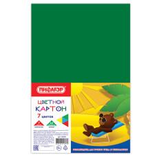 Цветной картон STAFF, 7 цветов, А4, 200×283 мм