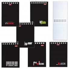 Блокнот А7, гребень, HATBER, INSIDE (Офисный стиль), 40 листов, 75х105 мм