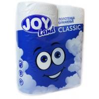 Полотенце бумажное  Joy Land, 2 слоя, 2 рулона, (белый)