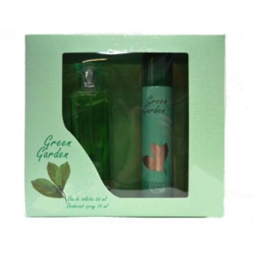 Подарочный набор  для женщин Green Garden  (Грин Гарден) (туалетная вода 50 мл + дезодорант 75 мл)