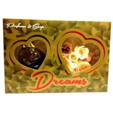 Подарочный набор  для женщин Dream Gold (Дрим Голд) (Туалетная вода 100 мл + Мыло)