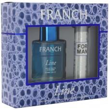 Подарочный набор  для мужчин  Френч Лайн  (туалетная вода 100 мл + дезодорант 75 мл)