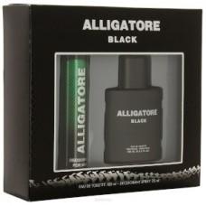 Подарочный набор  для мужчин Alligatore Black  (Аллигатор  Блэк) (туалетная вода 100 мл + дезодорант 75 мл)